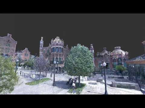 3D laser scan of Sant Pau in Barcelona
