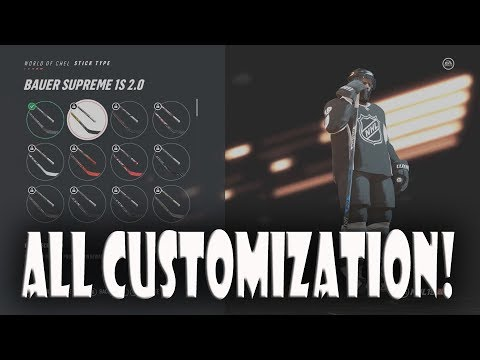 All NHL 19 Pro Customization Items Celebrations, Gear, and More