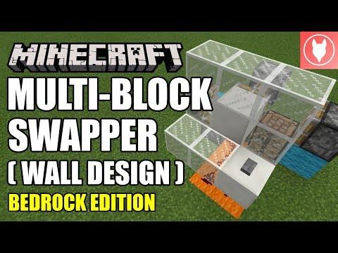 Minecraft Bedrock - Multi-Block Swapper [Wall] Tutorial ( Xbox / MCPE / Windows 10 / Switch )