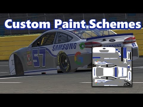 how to make a paint scheme in iracing youtube