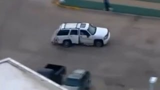 High-Speed Police Car Chase, Crash and Foot-chase - Del City, OK - 2013-01-25