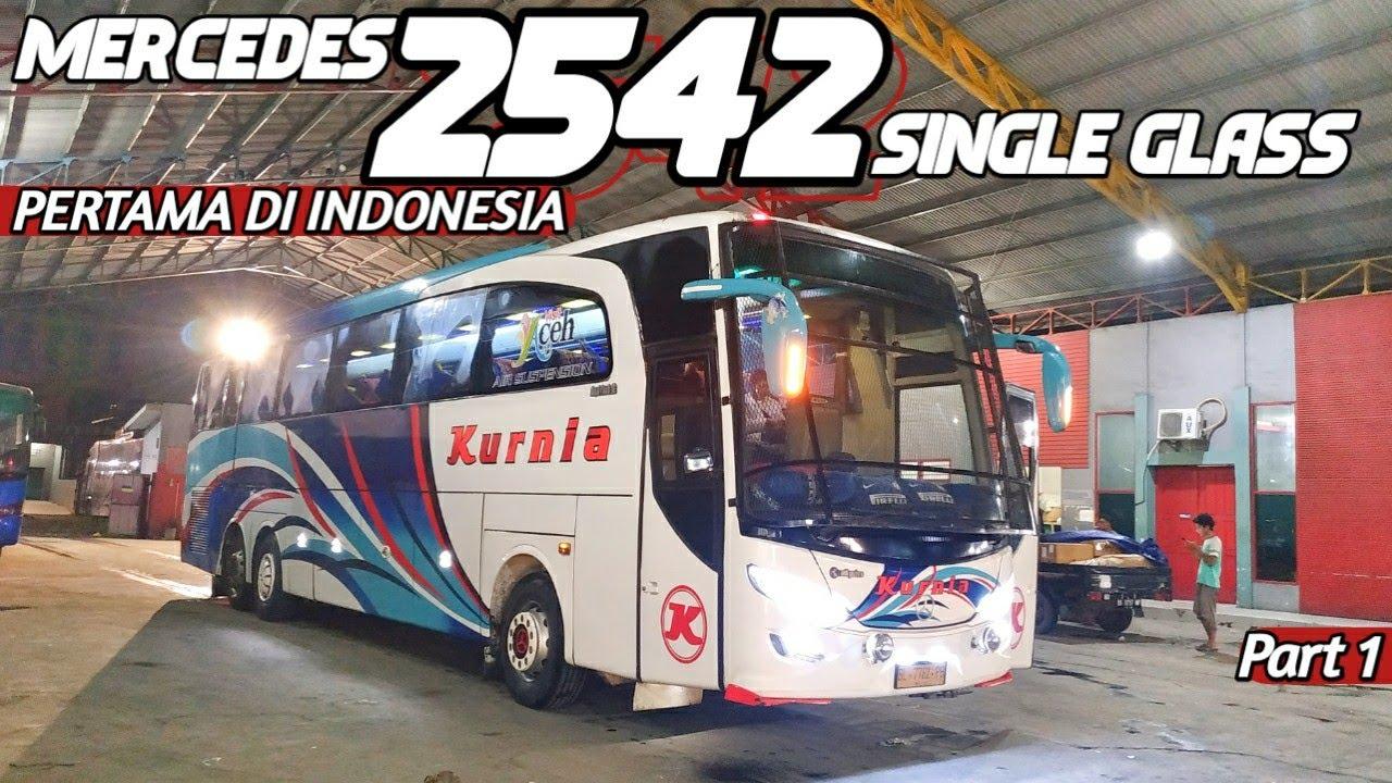 Naik Bus Tronton SINGLE GLASS PERTAMA di INDONESIA!! | Trip Bus Kurnia Medan - Banda Aceh Ep 1