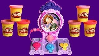 Play Doh Sofia The First Amulet & Jewels Vanity Playset Make Tiara With Play Dough Dc Toyscollector