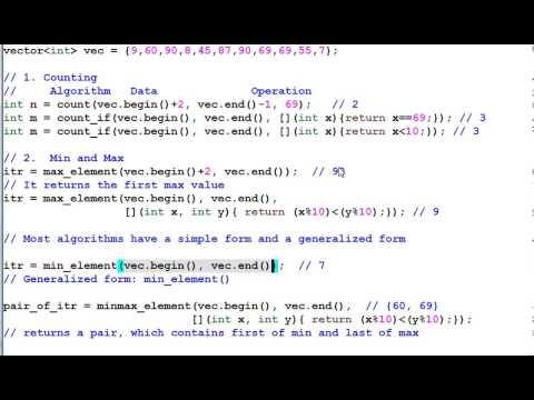 STL Algorithms #1: Non-modifying Algorithms