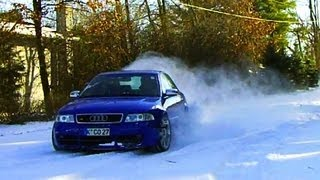 audi s4 biturbo quattro snow launch control drift donuts