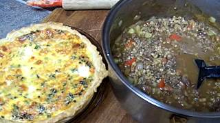 Dinner, Quiche', Beef Barley Soup Chef John The Ghetto Gourmet Show