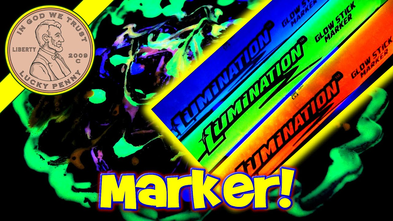 Glow in the dark crafts - Lumination Glow Stick Markers Glow In The Dark Drawing Arts Crafts