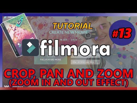 FILMORA Tutorial 13: HOW TO CROP, PAN AND ZOOM (zoom in and out