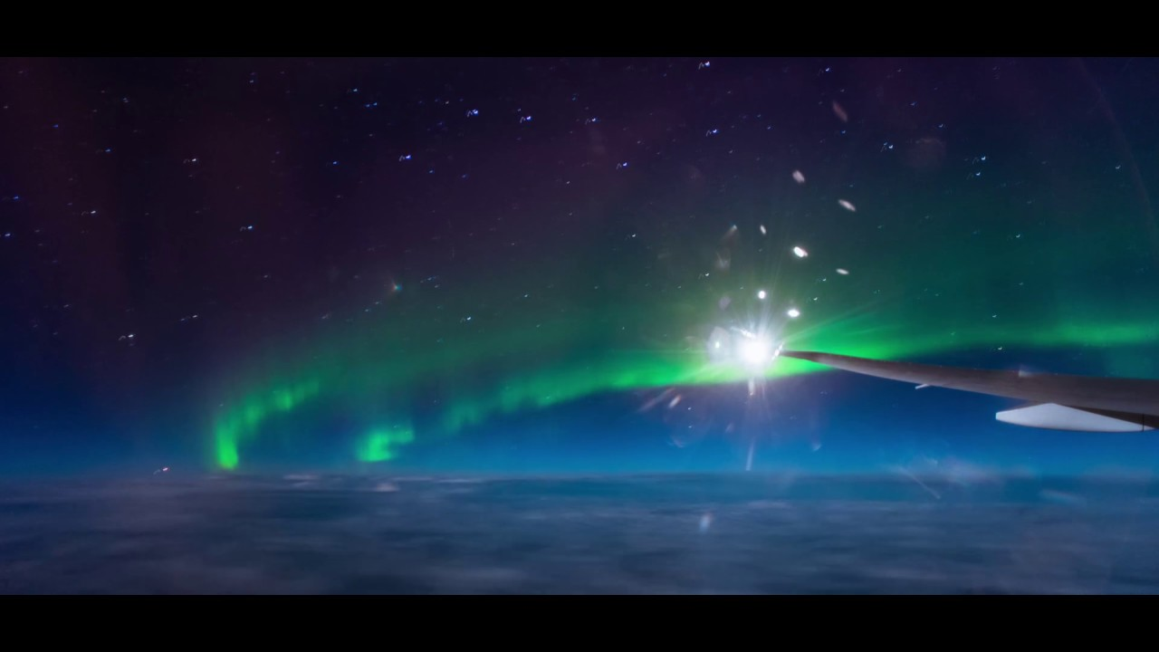 Northern Lights Airplane