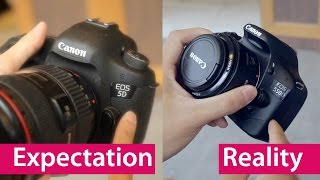 Repeat youtube video Expectation vs Reality: Buying Your First DSLR