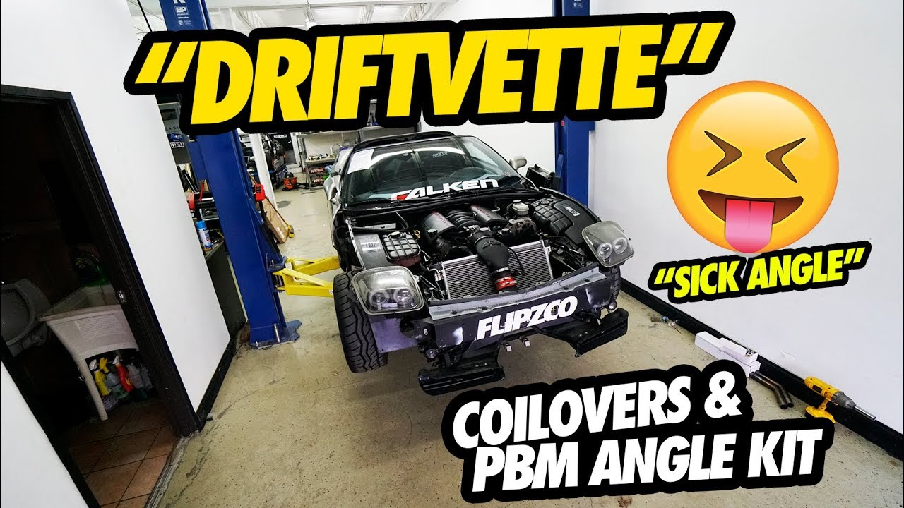 INSTALLING COILOVERS AND PBM ANGLE KIT ON THE C5 CORVETTE DRIFT BUILD !!!