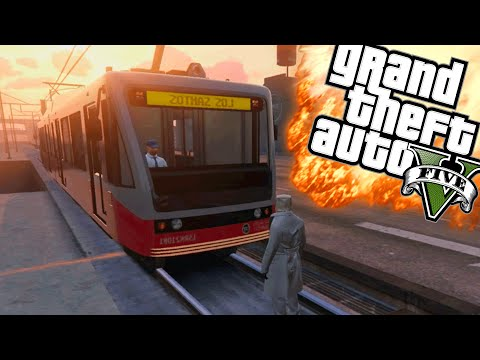 STOP DE TRAM! - GTA 5 Online Funny Moments