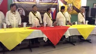 Singing of the Nueva Ecija March