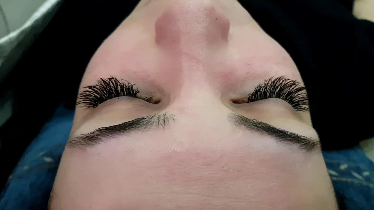 100 Human Hair Eyelash Extension Glamorous Mascara Effect Size