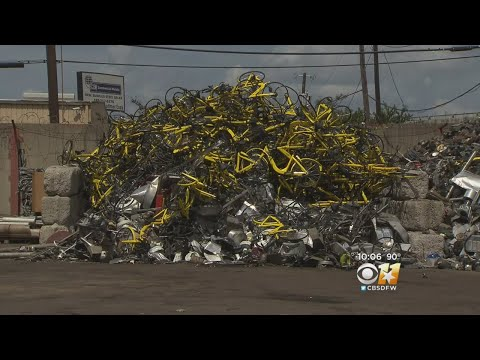 Mountain Of Bikes Sits In Recycling Yard After Ofo Pulls Out Of Dallas