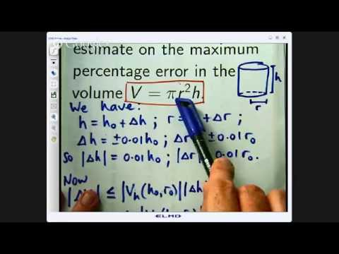 Error estimation via Partial Derivatives and Calculus