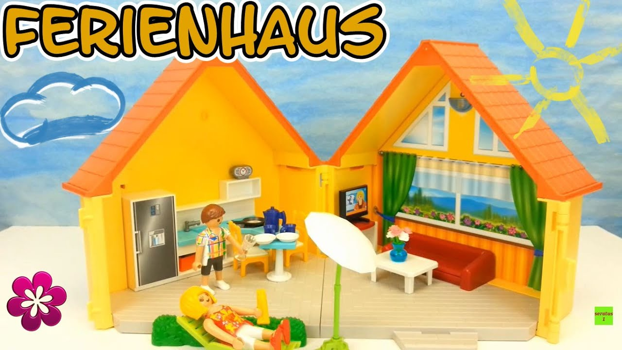 amazon playmobil haus playmobil aufklapp ferienhaus auspacken aufbau seratus unboxing with. Black Bedroom Furniture Sets. Home Design Ideas