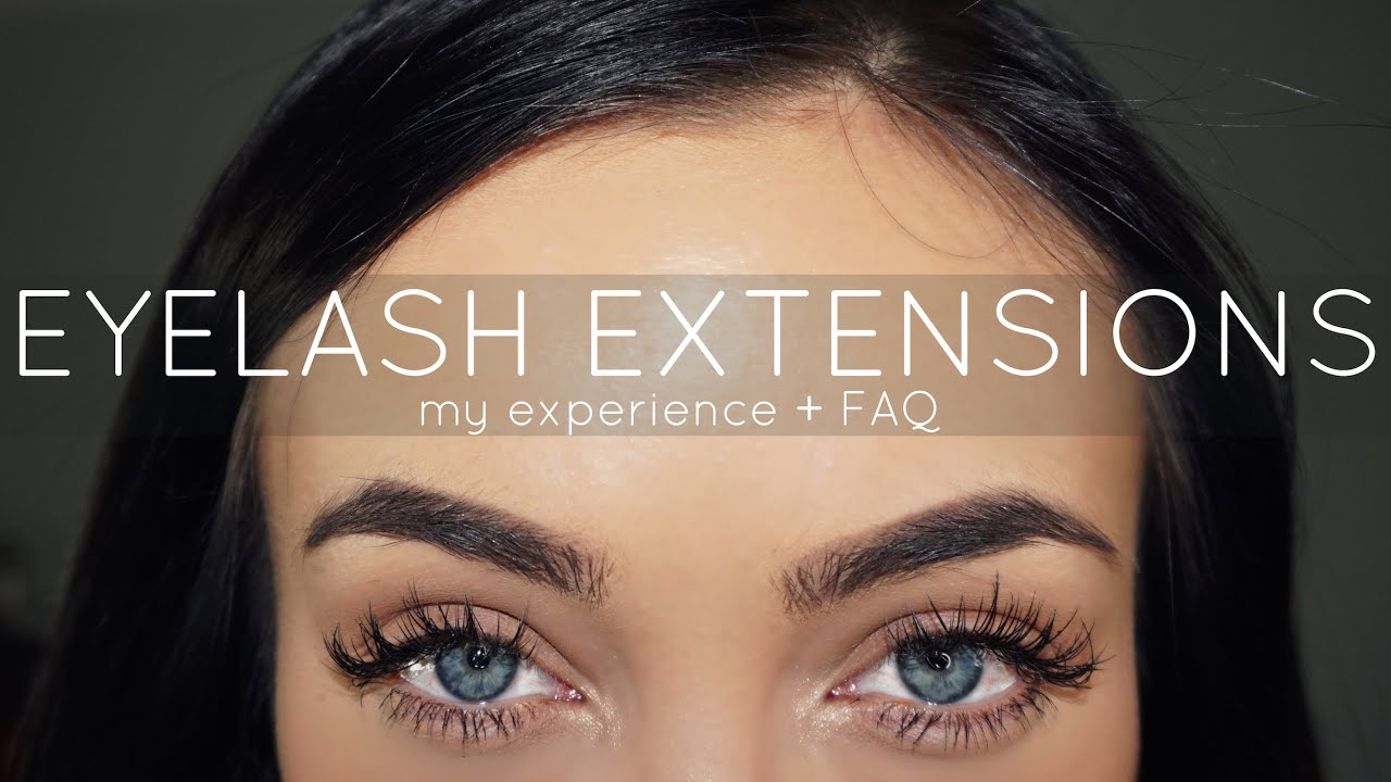 Eyelash Extensions | My Experience + FAQ | Stephanie Ledda - YouTube