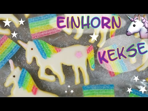Einhorn Kekse backen I Einhorn Plätzchen backen I Vanille-Kekse