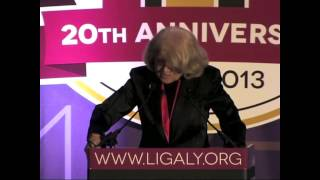 Honoree Edie Windsor at the LIGALY 20th Anniversary Gala
