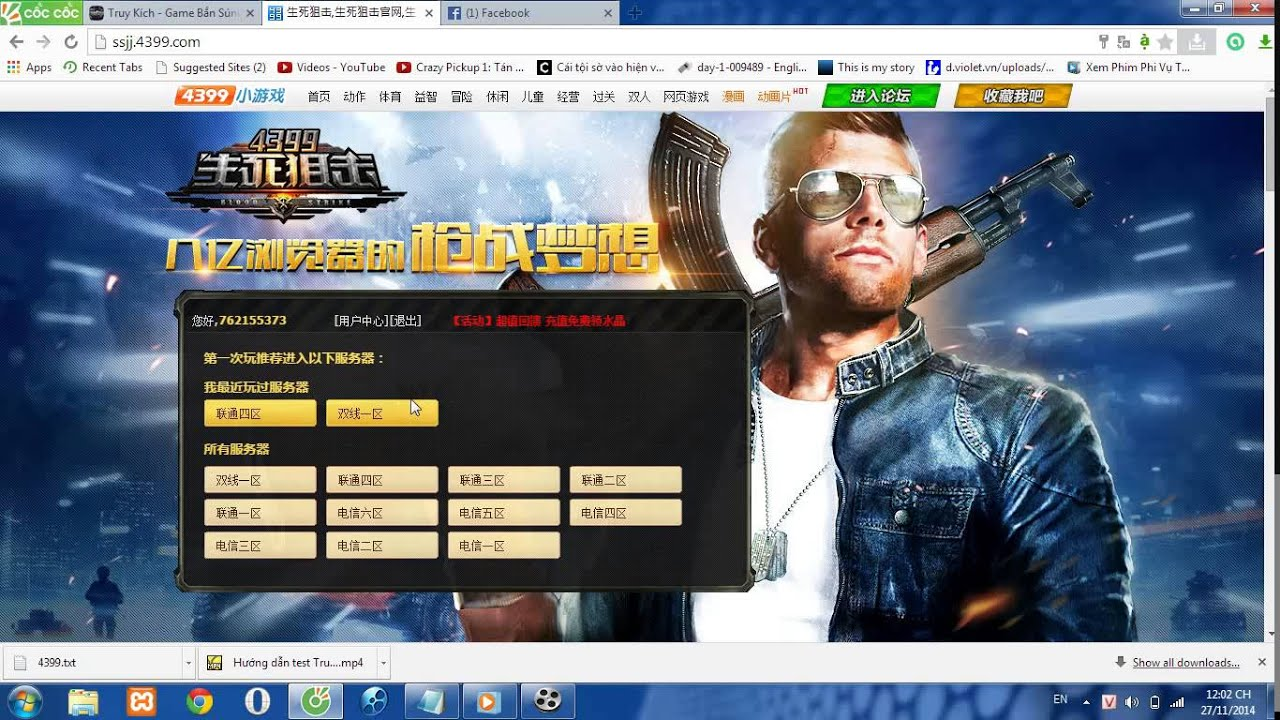 Hướng dẫn đăng kí và chơi truy kích Trung Quốc