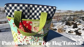 Quilted Patchwork Mini Tote Bag // TUTORIAL!!