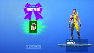 fortnite 14 days of Christmas day 4 rewards
