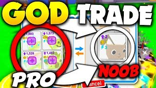 TRADING *NOOBS* INSANE GOLD PETS IN THE GAME! - Roblox Pet Simulator (Update)