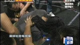 歌手潘瑋柏今天凌晨在台北小巨蛋,為明天即將舉辦的演唱會進行「高空特...