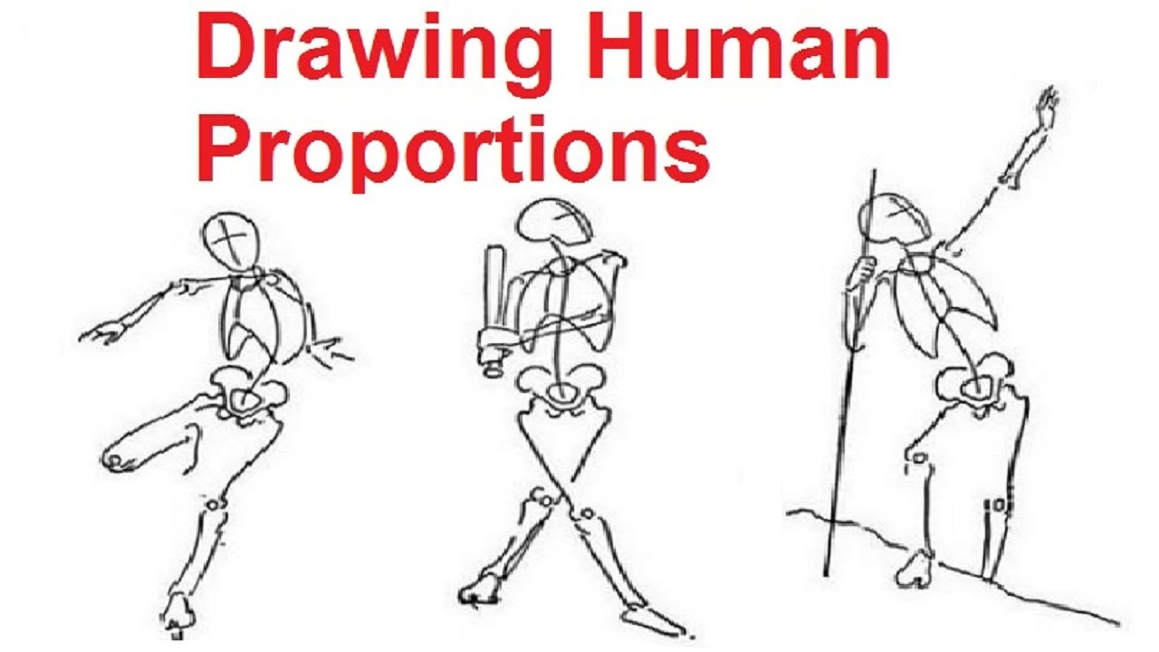 Figure Drawing Lessons 2/8 - Drawing Human Proportions Using Stick ...