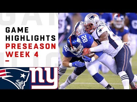 Patriots vs. Giants Highlights | NFL 2018 Preseason Week 4