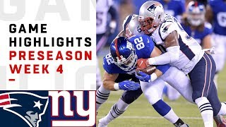 Patriots vs. Giants Highlights | NFL 2018 Preseason Week 4