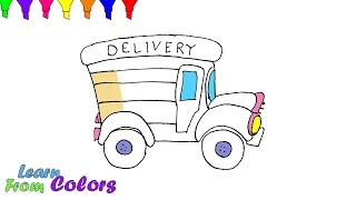 How To Draw Truck Coloring Pages Easy For Childrens
