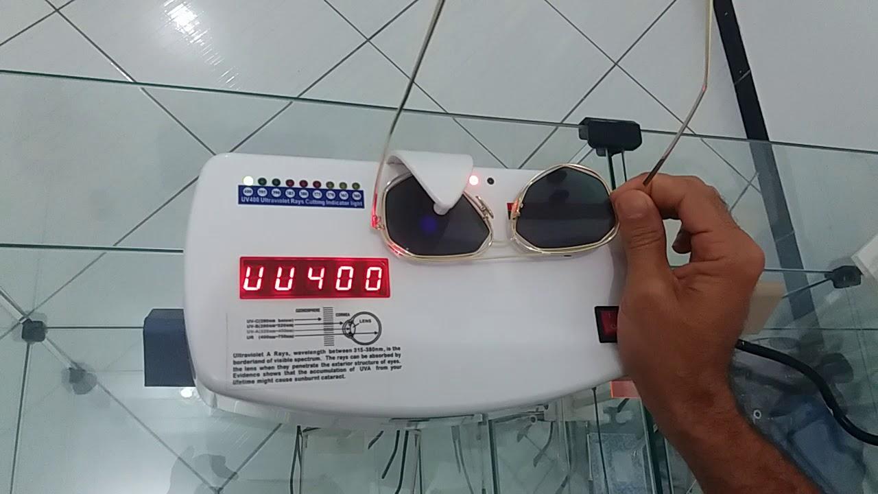 bb04102c6b422 Teste de proteção UVA UVB dos óculos de sol da LOOK OCULOS - YouTube