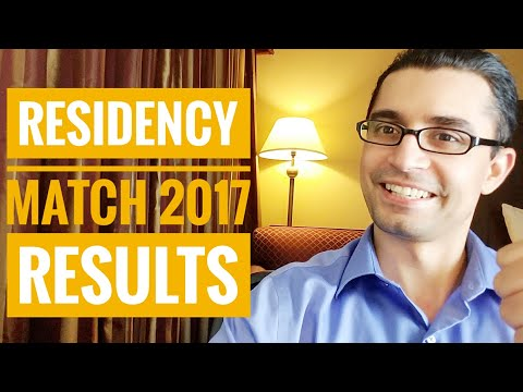 RESIDENCY MATCH 2017 Results and Stats!!!