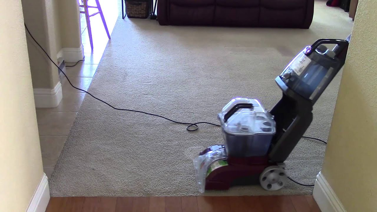 Hoover Power Scrub Deluxe Carpet Cleaning Youtube