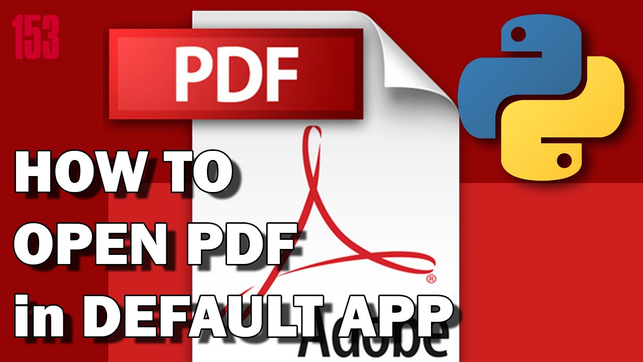 PYTHON How to open PDF file