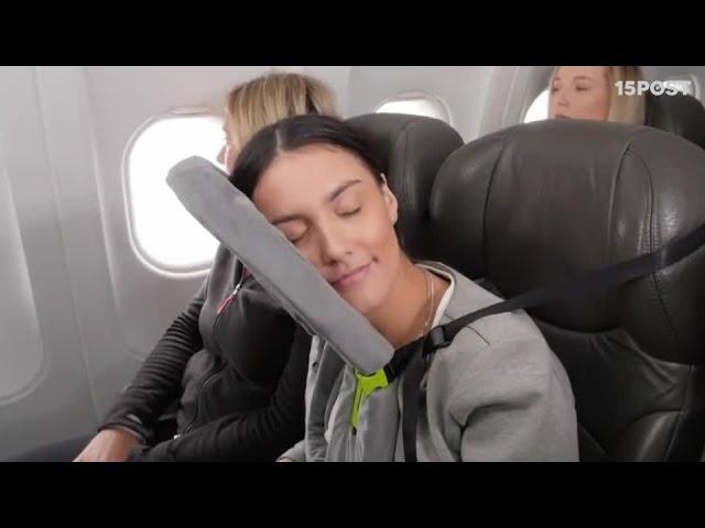 Con esta almohada sí podrás dormir mientras viajas