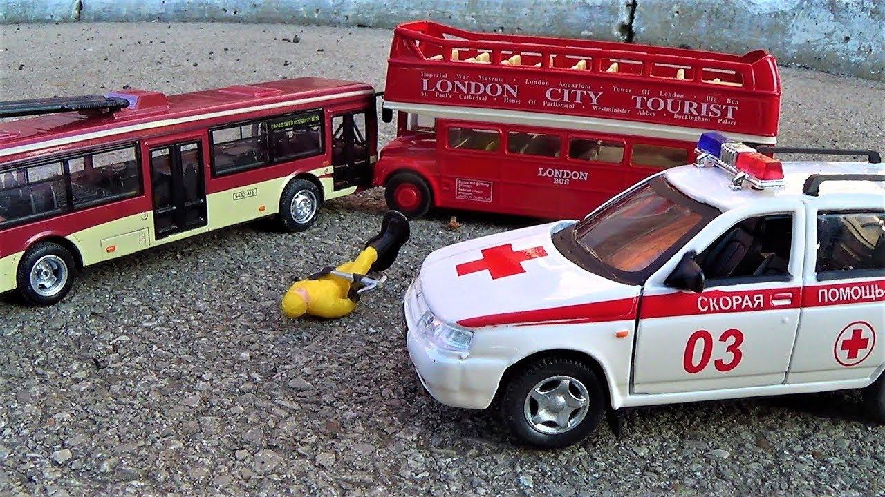 видео про машинки для детей машина скорой помощи игрушки для мальчиков мультики про машинки