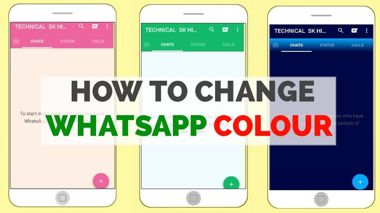 How To Change Whatsapp Theme Colour | Make Your Whatsapp Interesting &  Colorful 🔥🔥