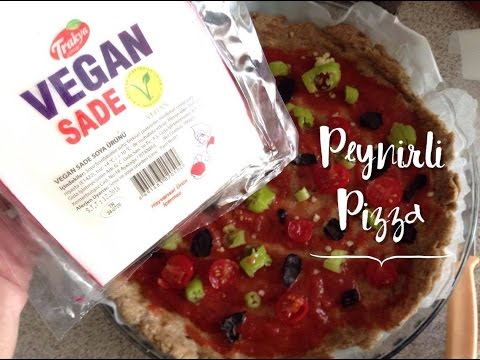 Vegan Peynirli Pizza (Cheese Pizza / Τυρί Πίτσα)