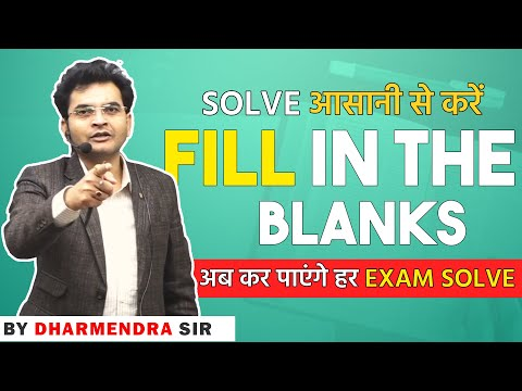 Fill in the blanks for SSC CGL(Tier 2) by Dharmendra Sir