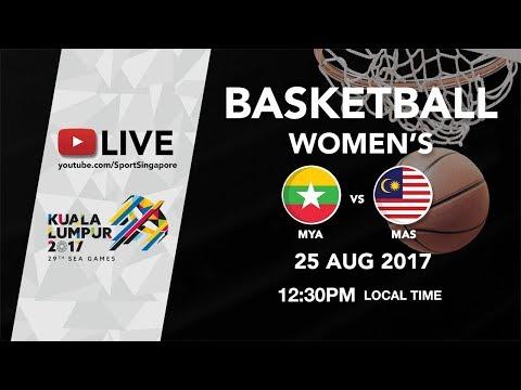 Basketball 🏀 Womens Myanmar 🇲🇲 vs 🇲🇾 Malaysia | 29th SEA Games 2017