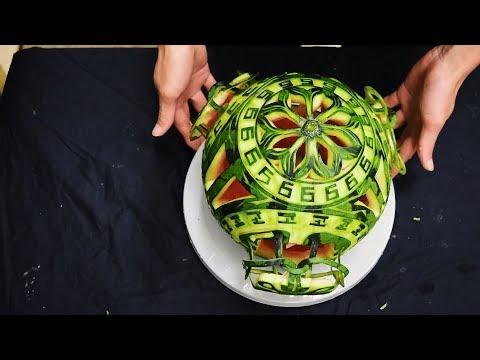 'Watermelon lamp' Best watermelon carving/FCL Team