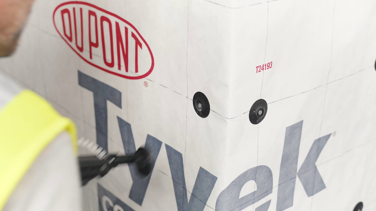 Attaching Dupont™ Tyvek® using the Thermal-Grip FastCap™