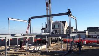 Erecting Structural Steel In Seaside Park