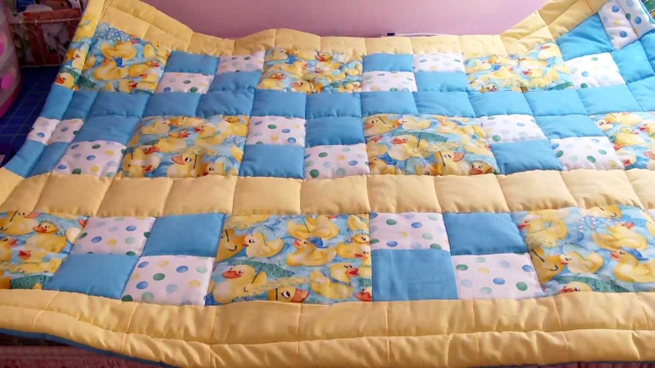 Baby Boy Quilt Finished Youtube