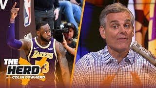 Colin Cowherd: LeBron passing MJ on points list was 'completely underwhelming' | NBA | THE HERD