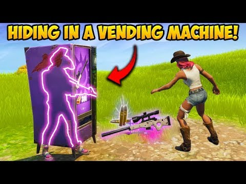 HIDING *INSIDE* A VENDING MACHINE! - Fortnite Funny Fails And WTF Moments! #339
