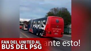 MANCHESTER CITY vs PSG | El aficionado más famoso del MANCHESTER UNITED y el bus del PSG